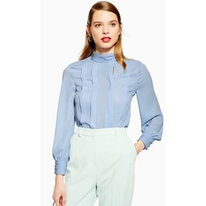 TOPSHOP HIGH NECK PLEAT BLOUSE ♥️IN STORES♥️